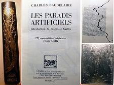 BAUDELAIRE/LES PARADIS ARTIFICIELS/ED DE BONNOT/1984/TIRAGE DE TETE/SIGNE