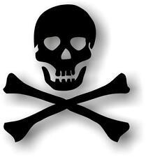 Sticker decal vinyl car bike laptop macbook bumper pirate skull black