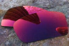 Mirrored Red Purple Polarized Replacement Sunglass Lenses for Oakley Eyepatch 2