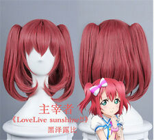 wholesale LoveLive!Sunshine!!Kurosawa Ruby Red cos + 2 ponytail Cosplay Wig/Wigs