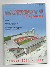 ORIG. PRG UEFA CUP 01/02 FC Utrecht-AC PARMA!!! RARO