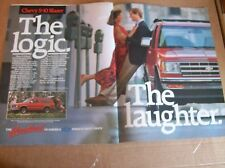 1989 Chevrolet S-10 Blazer Two-Page Magazine Ad - The Logic, The Laughter