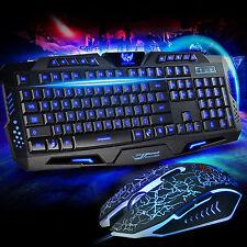 M200 3 LED COLORI cablata Gaming Tastiera e Mouse Luminoso TOPI Bundle COMBO