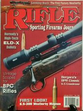 Rifle Sporting Firearms Journal Jan 2016 Vintage Scopes Bullets FREE SHIPPING sb
