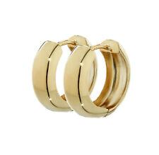 Paar 585 Gelbgold Klappcreolen Ohrringen 12,2 x 3,2mm Hochglanzpoliert Rund 4737