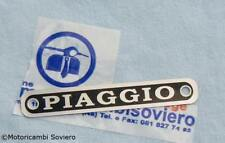 \ Targhetta Piaggio metallo Sella Vespa 50 prima serie 125 VNB 150 VBB GL //