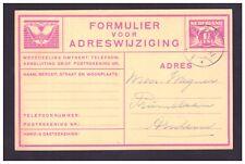 Cartolina Olanda Nedeland Formulier Voor Adreswijziging 1 1/2 cent WE689A
