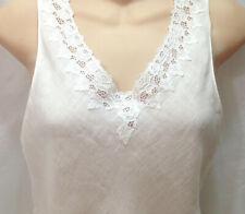 70s Christian Dior Lace Linen Stretch Cotton Teddy Leotard Bodysuit Snaps Vtg S