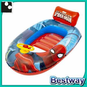 CANOTTO GONFIABILE per bambini SPIDERMAN mare piscina canottino gonfiabile cm112