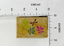 Wood Block Rubber Stamp: Leaves