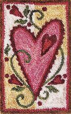 """Punchneedle Pattern by Jeri Kelly """"Heart""""  (3"""" x 5"""")"""
