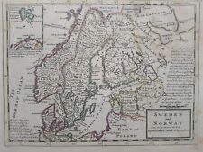 1732 Herman Moll Sweden and Norway Agreeable to modern history Map Scandinavia