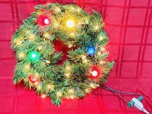 "Pre-Lit 17""dia. Christmas Wreath w/ Lights & 10' Extension Cord"