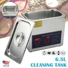 65l Digital Cleaning Machine Ultrasonic Heated Timer Cleaner Stainless Tank Us
