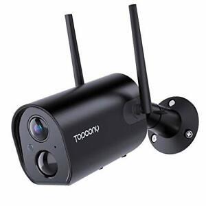 Topcony Caméra de Surveillance WiFi Extérieure Batterie Rechargeable, Caméra IP