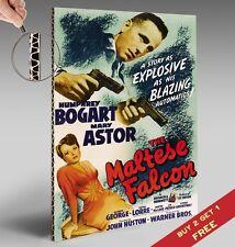 Le faucon maltais 1941 * Affiche de cinéma * classic vintage A4