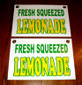 """2 Fresh Squeezed LEMONADE Coroplast SIGNS New! 8"""" X 12"""" Concession Stand"""