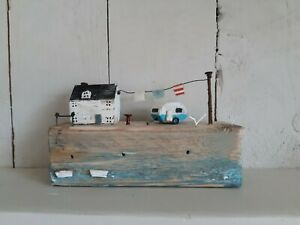 Handmade  bespoke caravan cottage sculpture  ornament unique gift