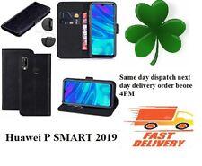 Huawei P Smart  2019 TPU Leather book case Mobile Phone screen cover Black