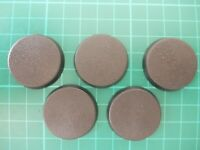 Warhammer 40K - 5 x 32mm round plain bases - 40k bits