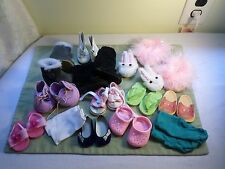 "14 pairs  boots, shoes slippers sandles & socks  for 18"" american girl doll"