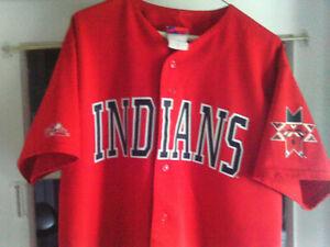 Indianapolis Indians Majestic Red Button Up Front Team Jersey SZ- XL