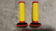 OLD SCHOOL BMX OAKLEY BIB GRIPS RED/YELLOW GUIDANCE SYSTEM REISSUE 2010 RARE HTF