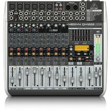 Behringer XENYX QX1222USB 16-Input USB Audio Recording Editing Mixer w/ Effects