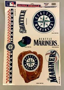 "Seattle Mariners Logo Premium 11.5""x17"" Ultra Decal Sheet Stickers Baseball NEW"