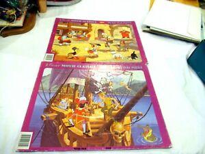 Disney Movie Classics Jaymar Inlaid tray puzzles - Peter Pan Pinocchio