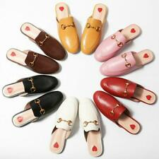 Womens Princetown Horsebit Leather Slippers Slip Flats Mules Loafers Shoes Chic