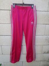 Pantalon ADIDAS rétro vintage rose argenté femme Trefoil pant sport détente 36