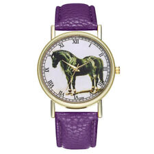 HORSE & WESTERN JEWELLERY JEWELRY WATCHES LADIES HORSE WATCH PURPLE BAND