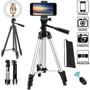 Camera ,Phone Tripod Portable Adjustable Stand Mount Holder With Ring Light Pro