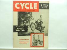 April 1955 Cycle Magazine Matchless Sport Twin Ariel Harley-Davidson B5407