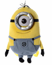 DESPICABLE ME ONE EYED MINION PLUSH BACKPACK RUCKSACK NEW