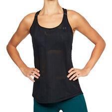 Under Armour UA HeatGear Ladies Supervent Black Tank Top Sports Running Vest