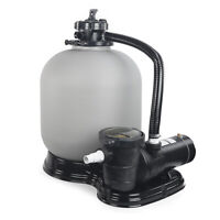 """Above Ground Swimming Pool Pump 4500GPH 19"""" Sand Filter +1.5HP intex compatible"""