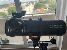 Celestron AstroMaster 114EQ Telescope with Motor Drive (No Box) Used Twice.