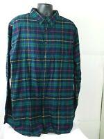 Croft & Barrow Button Up Long Sleeve Plaid Flannel Shirt Mens size 2XL Tall