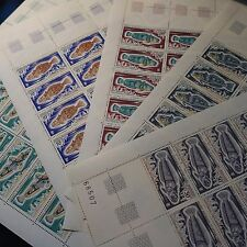 FEUILLE SHEET TAAF N°34/38 x25 COIN DATÉ POISSONS NEUF ** LUXE MNH