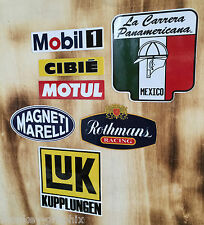 Retro Aufkleber Set 7St. Youngtimer Magnetti/Motul/Cibie/Mobil1 Ralley Sticker