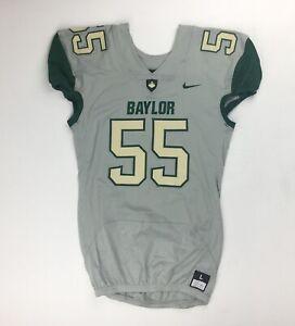 Nike Baylor Bears Vapor Pro Football Game Jersey Men's Large #55 Grey 845919