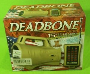 "Foxpro ""DeadBone"" Predator Call, 15-Preloaded Sounds, Brand New, Free Shipping"