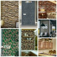 3D Brick Wall Stickers Self-Adhesive PVC Wall paper Peel and Stick Wall Panel US