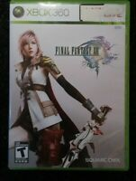 Final Fantasy XIII Microsoft Xbox 360 Complete Tested Video Game Rare 3cds