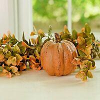 "Primitive/Country Resin 6"" ORANGE ROUND  PUMPKIN  Halloween"