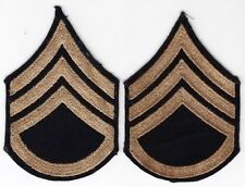 Pair WW2 Embroidered on Twill Staff Sergeant Chevrons