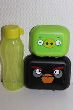 Tupperware Eco Easy Flasche 310 ml Twin 2-tlg Set Engry Birds Dosen Frühstückdox