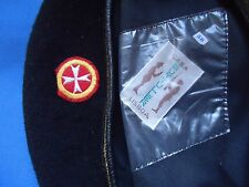 PORTUGAL PORTUGUESE ORDEM DE MALTA ORDER MALTESER BERET WITH BADGE SIZE 58